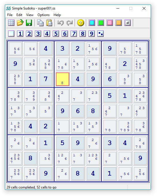 graphic regarding 16 Square Sudoku Printable referred to as Very simple Sudoku - freeware puzzle producer and solver